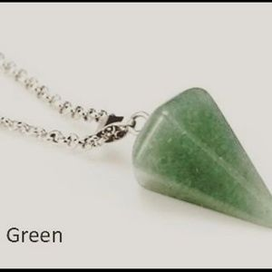 ⭐ Natural Stone Crystal Pendulum